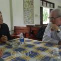 Vị Đại diện Tòa thánh gặp Bề trên Đan viện Thiên An
