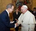 Tổng Thư ký Liên Hiệp Quốc lên tiếng ca ngợi Đức Thánh Cha Phanxicô